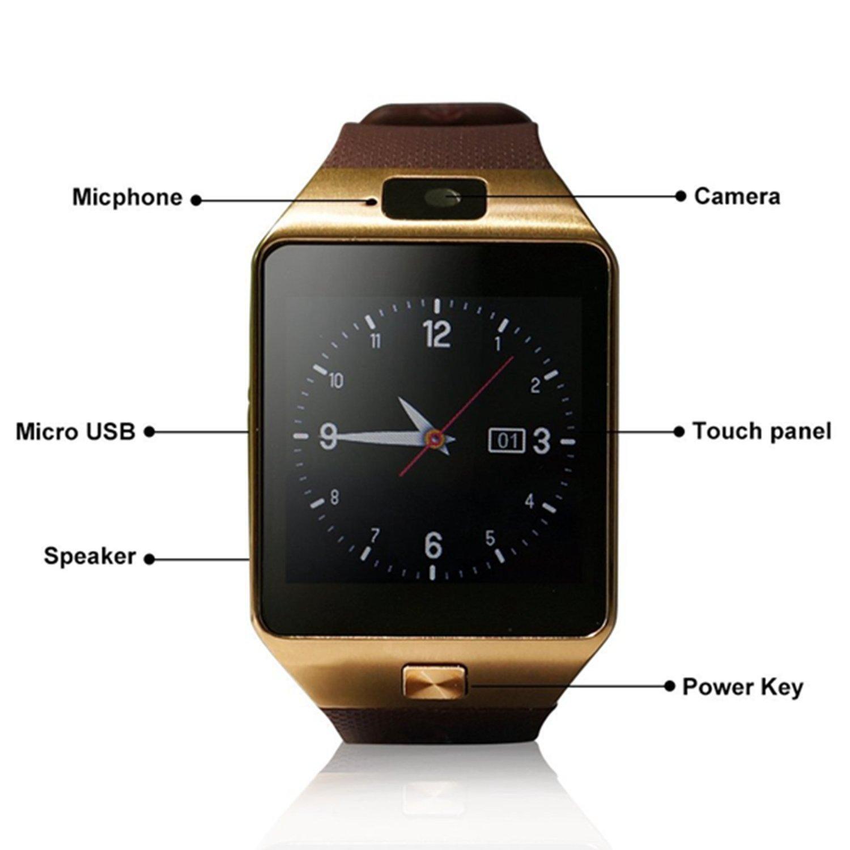 21abb9f53977a SmartWatch F. €19.95. SmartWatch F. Bluetooth 3.0 Reloj Inteligente con Cámara  Smartwatch phone con para Samsung ...