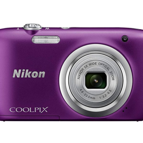 Nikon Coolpix A100 Morado + Estuche + Selfie Stick