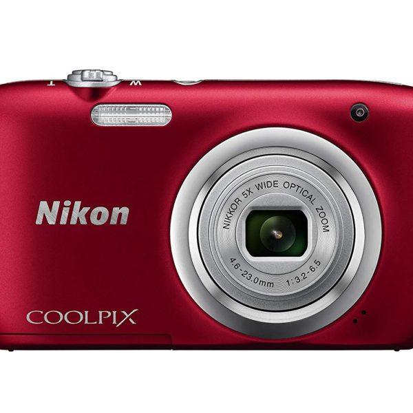 Nikon Coolpix A100 Rojo + Estuche + Selfie Stick
