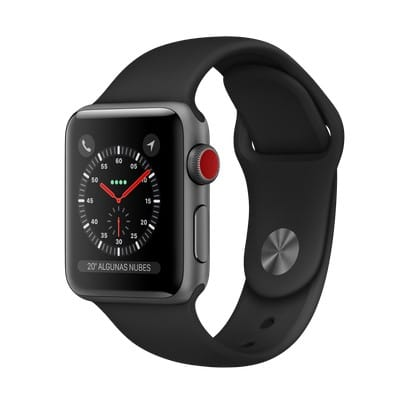 Apple Watch Series 3 Space Gray Aluminum 38mm Sport Band Black 4G